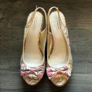 Coach Gwynnie wedge sandals size 8.5